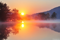 Beglika realm (.:: Maya ::.) Tags: lake mountains tree nature pine sunrise woods magic reserve bulgaria moment   rodopi   rhodope    beglika   mayaeye mayakarkalicheva