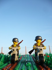 On patrol (Rebla) Tags: evening lego wwii ww2 fp forcedperspective patrol