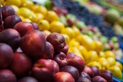Fruit day! [explored] (icemanphotos) Tags: color colour apple colors fruit canon eos lemon interesting basket view market top peach plum naturallight best explore winner grape 50mm18 explored colorgrading icemanphotos