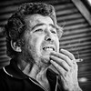 Tasos (big andrei) Tags: portrait bw grain olympus smoker zuiko 45mm18 epl3