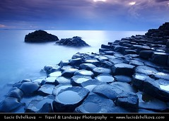UK  Northern Ireland  Co. Antrim - Giant's Causeway - UNESCO World Heritage Site - Dusk - Twilight - Blue Hour - Night ( Lucie Debelkova / www.luciedebelkova.com) Tags: world uk trip travel vacation holiday tourism beautiful wonderful nice fantastic perfect europe tour place unitedkingdom awesome sightseeing eu visit location tourist best journey stunning gb destination northernireland sight traveling lovely visiting exploration incredible touring breathtaking giantscauseway luciedebelkova wwwluciedebelkovacom luciedebelkovaphotography