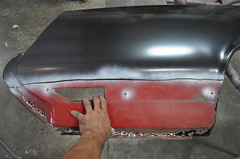 "1970 Cutlass SX Coupe Restoration Rust Repair • <a style=""font-size:0.8em;"" href=""http://www.flickr.com/photos/85572005@N00/8151101699/"" target=""_blank"">View on Flickr</a>"