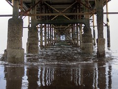 under pier (Ipple Pen) Tags: