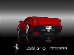 Ferrari 288 GTO Berlinetta (lego911) Tags: auto italy car model italian lego render 18th ferrari turbo gto challenge v8 60th cad sportscar racer lugnuts gtb 288 f40 moc groupb 308 berlinetta ldd miniland evoluzione attheraces lego911