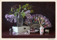 The Truth of Imagination (Esther Spektor - Thanks for 7 millions views..) Tags: wood pink flowers stilllife brown white color reflection green art texture glass beauty leaves composition canon ball asian golden fan necklace spring stem beige ceramics branch pattern box availablelight burgundy chinese silk ivory lavender shell casket stilleben pearls fantasy sphere vase imagination esther bouquet oriental tabletop hairpin bodegon naturemorte artisticphotography naturamorta spektor naturezamorta coth creativephotography artdigital artofimages exoticimage estherspektor