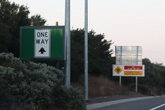 Open entrance to the  Southern Expressway, due to trafifc flowing in my direction (Marcus Wong from Geelong) Tags: motorway freeway adelaide oneway southaustralia southernexpressway