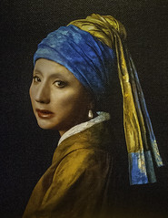 'Vermeer Study: Looking Back, 2008' by  Yasumasa Morimura (Greatest Paka Photography) Tags: sanfrancisco art beauty artist gallery exhibit identity andywarhol gender masterpiece lookingback genderbending impersonation collected johannesvermeer girlwiththepearlearring genderidentity yasumasamorimura pier24photography