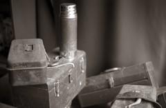 All that work (efo) Tags: bw stilllife film coffee work diafine thermos toolbox fuji4791 eternards digitalarchivefilm