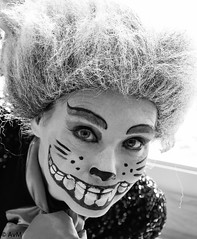Cat in wonderland (Ramireziblog) Tags: woman girl smile fairytale cat canon artist alice teeth wig streetartist wonderland 6d