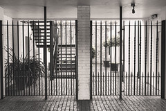 Henley Frontage (tatzlum.photo) Tags: colour monochrome architecture 50mm nikon gate cobblestone selected henley frontage d810 selectedcolour nikond810