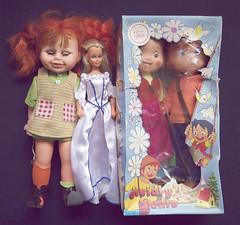 Childhood toys (criscrash13) Tags: vintage heidi toys tv pedro pippi bb eighties seventies famosa lali toyse
