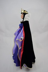 Tonner Evil Queen 16 inch Doll - Deboxed - With Cape - Standing - Full Right Side View (drj1828) Tags: standing doll limitededition 2010 snowwhiteandthesevendwarfs tonner posable evilqueen 16inch robed le1000 deboxed