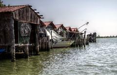 Boat box in HDR (Strocchi) Tags: italy water canon river boat italia fiume sigma nave po hdr pila rovigo 50500mm eos7d