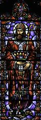 Saint Dunstan (Lawrence OP) Tags: sanfrancisco window saint bells cathedral monk stainedglass canterbury grace crozier dunstan archbishop charlesconnick