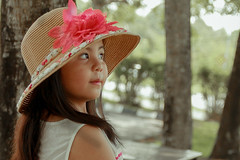 Innocence (EnJANEer) Tags: pink summer cute nature girl smile lady vintage child outdoor sigma innocence mysterious filipina ladylike canon650d summer2016