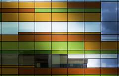 Punctured patchwork (Paul Buckingham) Tags: light canada abstract color colour colors architecture colours edmonton alberta