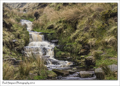Peak District Waterfall (Paul Simpson Photography) Tags: longexposure water grass landscape waterfall nationalpark stream stones derbyshire peakdistrict boulders clough highpeak photosof imageof photoof imagesof nethernorthgrain sonya77 paulsimpsonphotography april2016