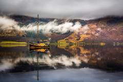 Sailing boat (devlin11) Tags: colour reflection landscape scotland boat nikon scenery exposure sailing cloudy filter lee glencoe tranquil