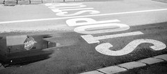 STOP (STOP STOP) (DomiKetu) Tags: road street city blackandwhite bw white black reflection monochrome sign reflections mono blackwhite traffic mini olympus stop 100 af1 indicator foma selfdeveloped fomapan bttb homemadesoup blackwhitephotos barrythorntons2bathdeveloper