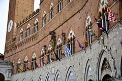 The spell of a city (Antonio Cinotti ) Tags: italy nikon italia sienna flags tuscany siena toscana palio bandiere contrade palazzopubblico paliodisiena d7100 nikon1685 nikond7100