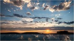 sunset reflections (:: Blende 22 ::) Tags: trees light sunset sky sun clouds rural reflections germany deutschland evening abend thringen cloudy district wiese bluesky thuringia bume eic abends lndlich landkreis eichsfeld heilbadheiligenstadt canoneos5dmarkii ef2470f28liiusm stormhgel