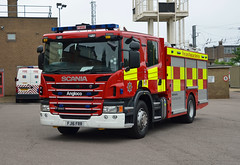FJ16 FRR (Emergency_Vehicles) Tags: fj16frr bedfordshire fire rescue service brand new unassigned scania angloco pump kempston
