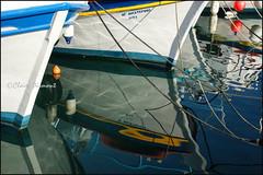 Boat.  Parikia (Claire Pismont) Tags: voyage travel blue color colour reflection port harbor boat colorful greece reflet reflect bateau couleur grece barque viajar travelphotography documentory pismont clairepismont