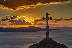 Thira Sunset (AgarwalArun) Tags: sunset church nature landscape island greek sony aegean scenic santorini greece views orthodox relfections thira cycladicisland firasantorini sonya7m2 sonyilce7m2