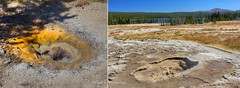 Heart Lake: Two geysers near Rustic (Chief Bwana) Tags: trail yellowstonenationalpark backcountry yellowstone wyoming geyser nationalparks wy heartlake heartlakegeyserbasin psa104 chiefbwana compositegeyser