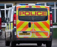 KN62OAP (Cobalt271) Tags: kn62oap rear northumbria police vauxhall vivaro 2900 cdti npt van proud to protect livery