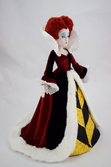 Iracebeth the Red Queen In the Queen of Hearts' Gown - Full Left Front View (drj1828) Tags: us disneystore ebay purchase limitededition 17inch doll posable collectible iracebeth alicethroughthelookingglass liveactionfilm theredqueen le4000 swappingoutfits undressed deboxed boxed queenofhearts aliceinwonderland le500