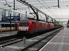 DBC 189 054 + DBC 189 046 te Rotterdam CS (erwin66101) Tags: ns dbs dbc deutsche bahn cargo deutschebahn kolentrein kolen trein goederen goederentrein rotterdamcentraal rotterdamcs rotterdam cs centraal station
