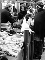 At the market (vieweronline) Tags: street people blackandwhite bw man paris france monochrome noiretblanc market candid streetphotography nb streetmarket buying g12 candidshots candidphotography streetscences canong12
