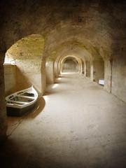 La Mola (the incredible how (intermitten.t)) Tags: españa boat arches menorca baleares minorca balearicislands lamola illesbalears 8394 29092009