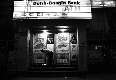 Prayer:The Most Secure Investment, Anytime, Anywhere (BACHCHA POLAPINE) Tags: road white dutch evening prayer bank balck secure dhaka limited atm bangladesh bnw bangla steet anywhere baily anytime uttara dbbl