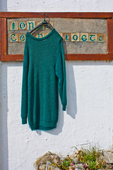 Droopy Jumper (fin townsend) Tags: dingle kerry jumper whitewash dunquin knitwear irishshop whitewashedwalls dunchaoin forsaleinireland irishshopsign