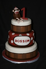 "Sock monkey cake • <a style=""font-size:0.8em;"" href=""http://www.flickr.com/photos/60584691@N02/6988396902/"" target=""_blank"">View on Flickr</a>"