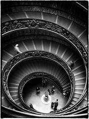 The Downward Spiral (Feldore) Tags: people italy white black vatican rome stairs spiral steps staircase mchugh downward feldore