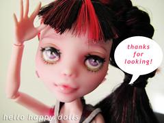 picthx4looking (Hellohappylisa) Tags: cute monster ball high doll ebay sweet auction adorable kawaii bjd custom mattel fa jointed repaint playline hellohappy draculaura