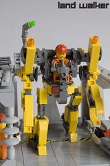 Land Walker (IcedPlusCoffee) Tags: robot lego hard suit walker land mecha mech moc powerloader hardsuit