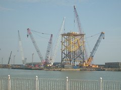 oil or gas platform under construction in lowestoft (michael james wagg) Tags: construction crane or under platform gas oil hire lowestoft ainscough oilorgasplatformunderconstructioninlowestoft