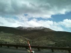 Distant snow (runningdog) Tags: arizona cactus snow rain hail pine clouds forest highway desert pinetrees payson winterweather