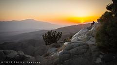 Sunset from Keys View, Joshua Tree NP (Philip Kearney) Tags: california ca sunset usa mountain nationalpark unitedstates unitedstatesofamerica joshuatree f90 northamerica kearney philip keysview philipkearney philipkearney