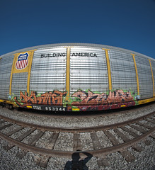 XUAST  TIMBER (TRUE 2 DEATH) Tags: railroad art train graffiti timber tag graf sigma trains fisheye railcar unionpacific boxcar 8mm railways railfan freight myshadow fisheyelens freighttrain autorack mfk rollingstock uprr sigmalens 8mmfisheye benching sigma8mmfisheye freighttraingraffiti xuast