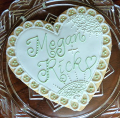 Wedding cookie gram
