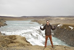 In front of the Gulfoss