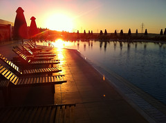 Sunbeds At Sunset (grahambrown1965) Tags: sunset sun pool swimming hotel 4 swimmingpool greece crete flare imperial belvedere sunbed sunflare iphone sunbeds iphone4 imperialbelvedere imperialbelvederehotel
