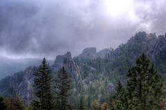 Igneous Monoliths (@!ex) Tags: mountains rock southdakota forest granite strom darkclouds stormclouds needlespark canon5dmkiii borderfxef50mmf12lusm