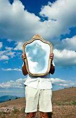 I'm not here (Alessio Albi) Tags: cloud mirror reflex nuvole father padre umbria specchio riflesso subasio