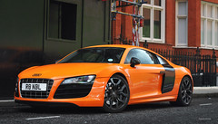 Audi R8 (Willem Rodenburg) Tags: orange colour london look race 50mm mirror nikon united engine mirrors like wrap kingdom harrods racing special kit mm carbon 50 audi supercar v8 accents v10 sportscar willem supercars londen lookalike r8 bespoke d90 cs6 hypercar rodenburg
